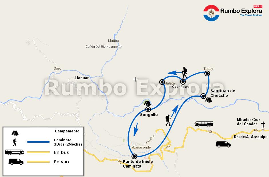 mapa colca trekking 3d es