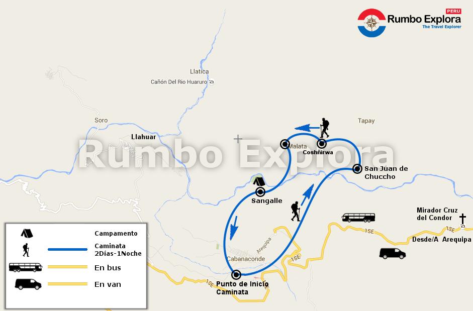 mapa colca trekking 2d es