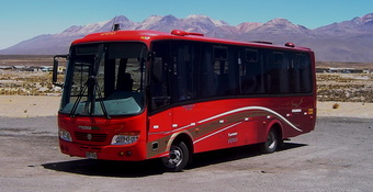 Tourist Bus Chivay Puno